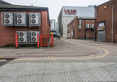 No parking (harrytaylor6) Tags: vue yellow noparking bricks cobbles airconditioning gateshead highstreet alley