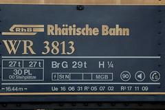 Rhätische Bahn RhB Restaurantwagen WR 3813 am Bahnhof Chur im Kanton Graubünden - Grischun der Schweiz (chrchr_75) Tags: albumzzz201806juni juni 2018 hurni christoph schweiz suisse switzerland svizzera suissa swiss chrchr chrchr75 chrigu chriguhurni chriguhurnibluemailch zug train juna zoug trainen tog tren поезд lokomotive паровоз locomotora lok lokomotiv locomotief locomotiva locomotive eisenbahn railway rautatie chemin de fer ferrovia 鉄道 spoorweg железнодорожный centralstation ferroviaria kanton graubünden grischun rhb rhätische bahn bahnen meterspur schmalspur bergbahn retica viafier kantongraubünden albumbahnenderschweiz albumbahnenderschweiz20180106schweizer treno