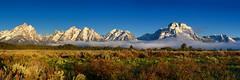 Sage and Fog (Tony Hochstetler) Tags: nikon d800e nikon2870mmf28 grandtetonsnationalpark tetons nationalpark wyoming panorama sage fog mountains landscape horizontal