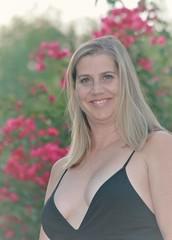 Blonde in Black (Spebak) Tags: blonde blondehair spebak canon canondslr canon70d blackdress smile beautiful portrait woman