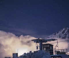 TINY. (Mélodie Descoubes) Tags: night astronomy stars nature moutains landscape snow clouds trip travel travelphotography lumix gx80 adventures blue cold mongie montagne voyage