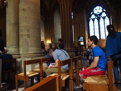 P5270752 (photos-by-sherm) Tags: notre dame cathedral paris france summer interior organ music chapels statues artwork carvings windows people