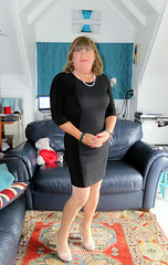 Working Girl (Trixy Deans) Tags: crossdresser cd cute crossdressing crossdress classy cocktaildress classic xdresser sexy sexyheels sexytransvestite sexylegs tgirl transgendered transsexual trixydeans dress frilly frills vintage