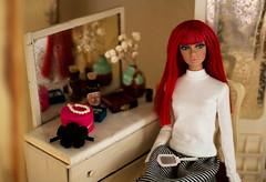 A-Z Doll Photography Challenge: k - Knick-knack/Keepsake (sadeyeddoll) Tags: integritytoys britishinvasion poppyparker doll portrait vintage furniture sindy ideal rement retro dated antique old weathered mirror