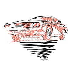 Vintage muscle car drawing (Hebstreits) Tags: american art auto automobile background big black car cars cartoon chrome classic comic convertible design drawing fast graphic hot illustration isolated motor muscle nostalgia old power race retro rod shiny silhouette speed sport sports street style symbol transportation travel v8 vector vehicle vintage wheels white