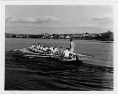 Rowers on Green Lake, 1959 (Seattle Municipal Archives) Tags: seattlemunicipalarchives seattle rowing greenlake lakes parks 1950s