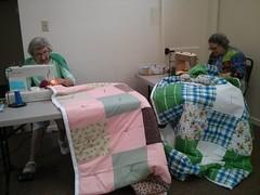 Helen and Ellen (LarrynJill) Tags: quilts quilting clc helen ellen