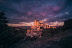 Alcazar_Segovia (rafaberlanga) Tags: olympus mzuiko europe landmark history fortress spain segovia travel architecture building castle historic old ancient fortification tower night sunset dusk famousplace outdoors sky fort scenics medieval hill landscape nature blue mountain fsuro