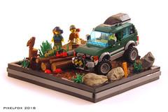 Mitsubishi Pajero 2nd Gen (V20) (Pixel Fox) Tags: mitsubishi pajero shogun montero offroader 4x4 vignette diorama lego