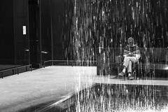 awash in contemplation (Jeff Hayward (@pointandwrite)) Tags: black history african contemplation fountains people obama candid water bw smithsonian museums