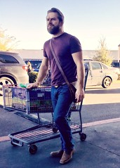 IMG_2372 (danimaniacs) Tags: elpaso hot sexy man guy mansolo beard scruff hunk jeans shopping cart