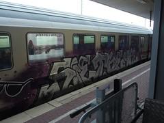 SIE . THEYR (mkorsakov) Tags: dortmund hbf bahnhof mainstation zug train ic intercity graffiti piece silber silver sie theyr