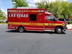 Rescue 201, Las Vegas Fire & Rescue (Summerlin540) Tags: 911 999 112 ems emt paramedic ambulance ambulancia emergency emergencia fd firedepartment bomberos nevada clarkcounty desert rural urban medical health chevrolet chevy led