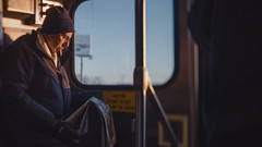 Everyday People (Jovan Jimenez) Tags: sony a6500 nikon series e 28mm f28 seriese eseries 6500 ilce alpha man people train metra metro station transportation cinematic