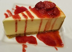 ~Double Berry Cheesecake~ (~☮Rigs Rocks☮~) Tags: rigsrocks truckerpics dinner kalamazoo redrobin doubleberrycheesecake cheesecake strawberry dessert theyneverhavethisonadietplan thisisbomb grahamcracker grahamcrackercrust sauce getyourownimnotsharing lol