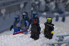 The Shadow Collective Emerges (Ben Cossy) Tags: pre visla darth maul savage oppress vizsla mando mandalorian mandalore jango fett ice hoth orto plutonia base star wars clone lightsaber snow minifigure minifigures minifig death watch