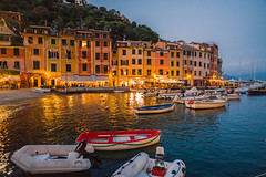 Harbour dusk...... (Dafydd Penguin) Tags: harbour harbor port dock harbourside waterside quay quayside water sea boats town urban buildings light dinghy porfofino coast coastal liguria italy leica m10 elmarit 21mm f28