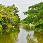 Lake and trees in Muang Boran open air museum in Samut Phrakan near Bangkok, Thailand thumbnail