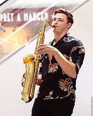 Tyler Rix (Jeff G Photo - 3m+ views - jeffgphoto@outlook.c) Tags: tylerrix canarywharf sax saxophone