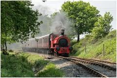 Bagnall 'Kent No 2'. On passenger ......... (Alan Burkwood) Tags: chasewaterrailway chasewaterheath bagnall kentno2 passenger train steam locomotive loop