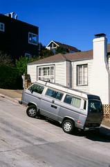 Glen Park // San Francisco (bior) Tags: sanfrancisco leicam3 velvia fujifilmvelvia summicron expiredfilm street sidewalk glenpark volkswagen bus transporter bulli microbus