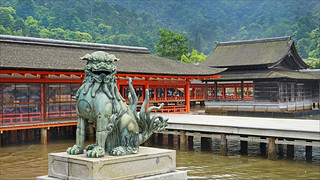 Le sanctuaire shinto d'Itsukushima (Miyajima, Japon)