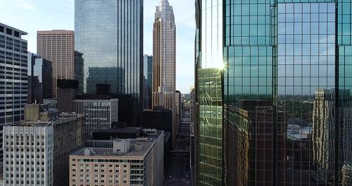 Downtown Minneapolis - Aerial - Elevation Shot