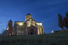 Bagrati Cathedral (Paolo Cinque / www.paolocinque.it) Tags: blue dusk sunset sky bluehour longexposure flickr photo photography photographer pic picture image shot church religion orthodox christian hill fantastic masterpiece perfect great nice cool amazing stunning awesome composition travel traveler traveller t traveling travelling visit visiting sight sightseeing trip tour tourism tourist world worldwide adventure ukmerioni bagrati cathedral night nightlights kutaisi georgia georgian asia camera reflex dslr fullframe canon