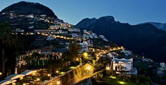 Lovely evening in Ravello (somabiswas) Tags: belmondcaruso hotel ravello italy travel landscape coast night lights evening