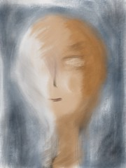 lightness (monowave) Tags: girl woman abstract sketch portrait painting ios art face