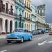 Oldtimers on Paseo de Marti, Havana, Cuba