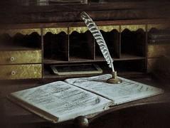 Quill (timvandenhoek1) Tags: quill desk antique feather inkwell timvandenhoek hermann missouri midwest sonyilce6000