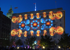 The Sun, The Moon and The Stars (.annajane) Tags: pierhead cunardbuilding liverpool merseyside projections lightshow thesun themoon thestars houseofsuarez uk england