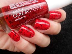 Dote - É Hoje + Color T. (Avon) - Melancia (Barbara Nichols (Babi)) Tags: dote éhoje vermelho red rednailpolish rednails esmaltevermelho melancia colortrend avon macromademoiselle