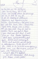 automatic writing project #2 pg80 (ms. neaux neaux) Tags: dawnarsenaux automaticwritingproject2 freewrite communityjournal realpeople writing words letters text handwriting