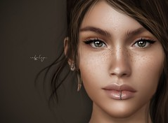 when you look at me, i start to smile. . . (Cataleya.) Tags: closeup portrait face eyes smile photography photoshop virtual secondlife sl unreal closer headshot