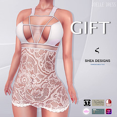 SD Joelle Dress with Appliers (Shea Designs SL) Tags: shea designs second life gift group freebie freebies lace dress appliers mesh body bodies