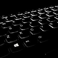 Keys to the future (ram mishra) Tags: lenovo keyboard backlit blackwhite black computers key samsungj7 androidphotos mobilephotography