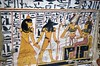 Confronting Osiris (konde) Tags: osiris anubis ancientegypt 19thdynasty newkingdom maat goddess tt219 deirelmedina luxor tomb hieroglyphs god nebenmaat