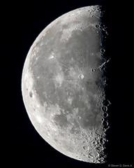 Last Quarter Moon 6-6-18 53.7% illuminated (stevendavisjr07) Tags: moon luna lunar selenophile moonwatch moongazing space astrophotography astronomy