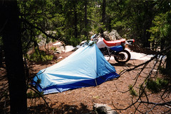 Roaming in the Rockies (twm1340) Tags: 1993 honda xr650l motorcycle tent camping slaughterhouse gulch park county co colorado mountain