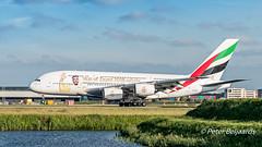 A6-EUA   Airbus A380-800 - Emirates (Peter Beljaards) Tags: a6eua emirates a380 airbusa380 specialcolours yearofzayed2018 ams eham kaagbaan rwy06 nikond5500 peterbeljaards aviationphotography nikon70300mmf4556