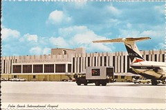 PBI01 (By Air, Land and Sea) Tags: airport postcard pbi palmbeachinternationalairport florida westpalmbeach aircraft airplane airline deltaairlines