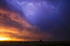 Blazing Sunset (Rigsby'sUniquePhotography) Tags: sunset landscape lightning longexposure travel explore southdakota stormchasing aaronrigsby canon sandisk earth magazine