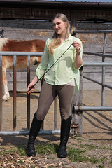 Camille 16 (The Booted Cat) Tags: sexy teen model girl blonde long hair riding ridingboots boots whip horse equestrienne