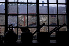 '1940's Farm' (andrew_@oxford) Tags: beamish living history museum north 1940s farm window silhouette
