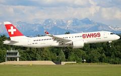 Swiss. HB-JCK. Bombardier CS300. LX2093. GVA. (Themarcogoon49) Tags: swiss bombardier cseries aircraft landing gva lsgg airport switzerland avgeek planespotting aviation cointrin