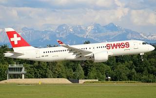 Swiss. HB-JCK. Bombardier CS300. LX2093. GVA.