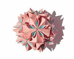 Cherry blossom ball (Vladimir Phrolov) Tags: tomokofuse origami kusudama modular paperfolding pink