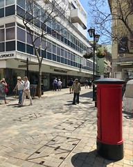 Very British! (Marc Sayce) Tags: marks spencer ms red post box main street gibraltar may 2018